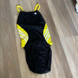 Adidas competitive swimsuit 28 black yellow